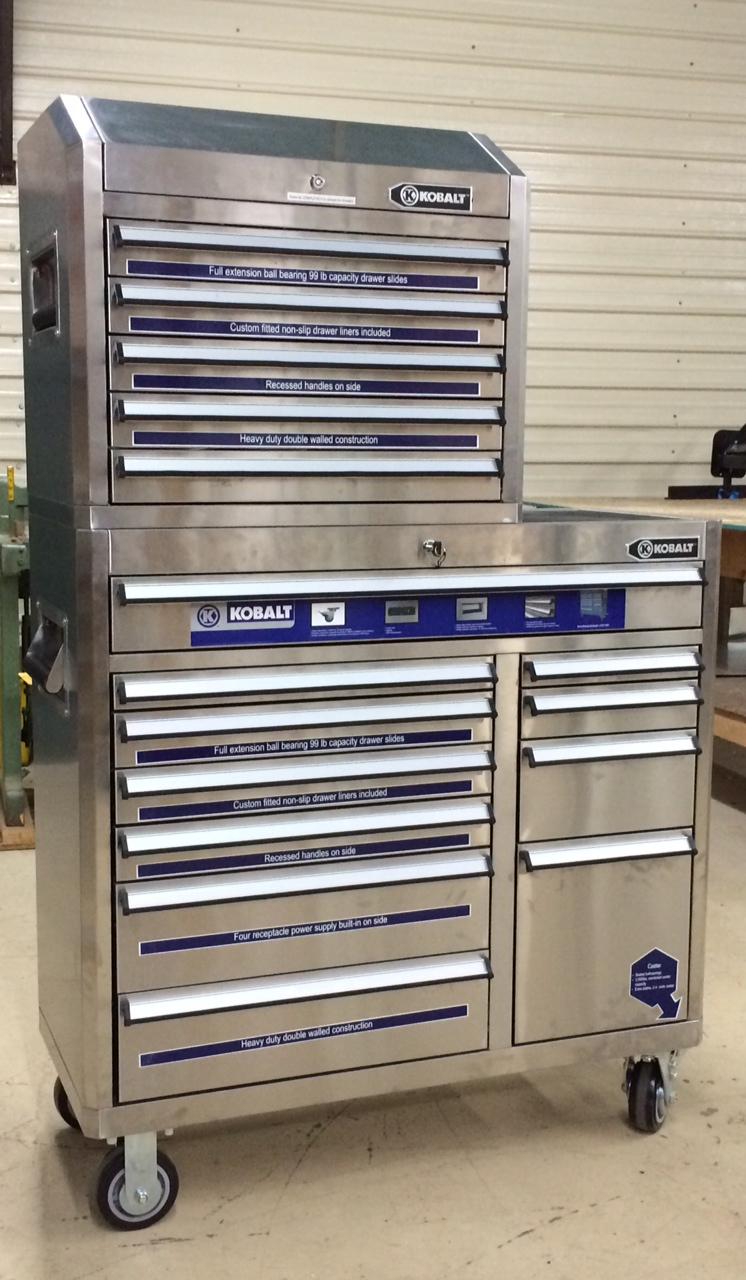 Kobalt Stainless Steel Tool Cabinet